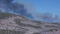 Fast moving wildfire in the western United States HD6577 Stock Footage