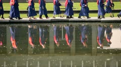 graduates at simon fraser university - stock footage