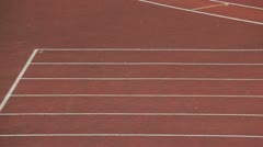 Running track Stock Footage