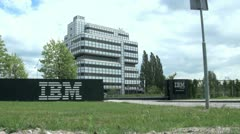 IBM Building in Amsterdam, Holland, The Netherlands, Europe - stock footage