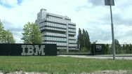 Stock Video Footage of IBM Building in Amsterdam, Holland, The Netherlands, Europe