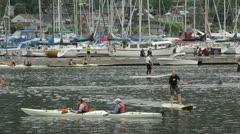 North vancouver b.c. canada - june 19 2012 deep cove kayak races. Stock Footage