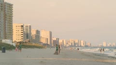 Myrtle Beach - people and condos Stock Footage