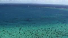 Aerial view of the Great Barrier Reef Stock Footage
