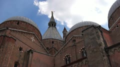Basilica of Saint Anthony of Padua,detail with clouds Stock Footage