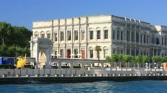 Ciragan Palace at Bosporus, Istanbul Stock Footage