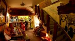 Restaurat havana cuba nightlife Stock Footage