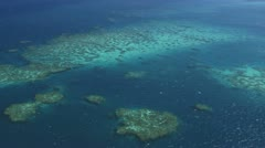 Great Barrier reef Aerial Stock Footage