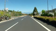 Driving on urban roads of Tenerife - stock footage
