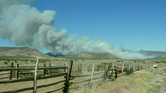 Wildfire beginning in the western United States HD6557 Stock Footage