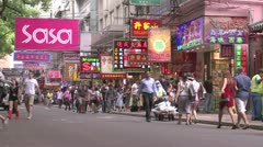 HK rue commercante.mp4 Stock Footage
