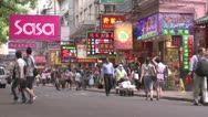 Stock Video Footage of HK rue commercante.mp4