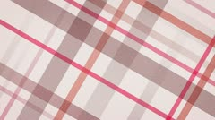 Red checked fabric loopable background Stock Footage