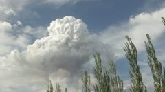 Pyrocumulous clouds forming above wildfire HD6723 - stock footage