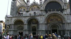 St Marks in Venice Italy Stock Footage