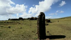 Easter Island female figure s1 Stock Footage