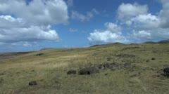 Easter Island Akahanga stones zig zag 1 Stock Footage