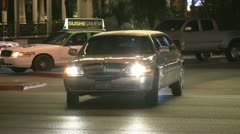 Stretch-Limo Las Vegas Strip Stock Footage