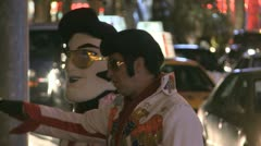 Elvis Lookalikes - stock footage