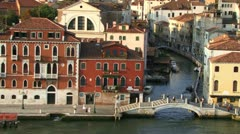 Venice from cruise ship Stock Footage