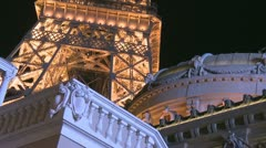 Eiffel Tower Las Vegas Stock Footage
