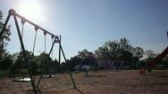 Empty swing Stock Footage
