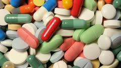 Colorful pills - stock footage