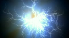 Abstract current lightning,magnetic power energy,ions particles fireworks. Stock Footage