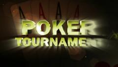 Poker Tournament Text and Four Aces - HD1080 Stock Footage