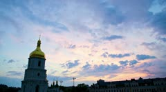 Saint Sophia Cathedral In Kiev, Timelapse Stock Footage