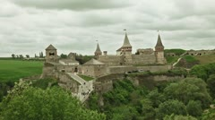 Kamianets-Podilskyi Castle Stock Footage