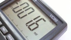 Digital Voltameter Stock Footage