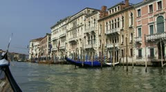Venice from a gondola - stock footage