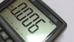Multimeter display Stock Footage