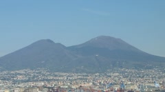 Napoli with Volcano Vesuv Stock Footage