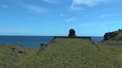 Easter Island platform near Hanga Kio'e 2 Stock Footage