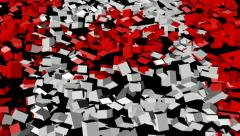 Canadian flag converging animation - stock footage