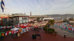 Pan of the knysna waterfront Stock Footage