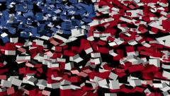 American flag converging animation Stock Footage