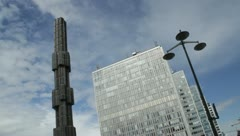 Skyscrapers and tower Sergels Torg Stockholm Stock Footage