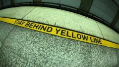 Behind Yellow Line 01 HD Stock Footage