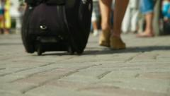 Inflow of Tourists Stock Footage
