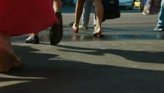 Pedestrians in the City Stock Footage
