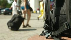 Inrush of Tourists Stock Footage