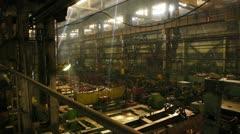 stock footage huge engineering department plant - stock footage