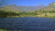 Stock Video Footage of Drakensberg Ampitheatre