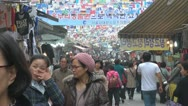 Stock Video Footage of Busy street market in Seoul, South Korea