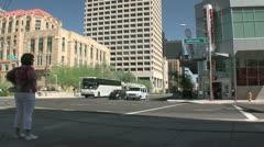 Phoenix Arizona Downtown City Traffic3 Stock Footage