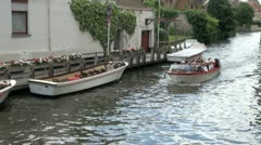 Bruges Tourist Boat Tour, Belgium Stock Footage