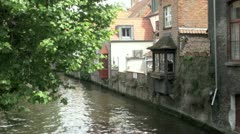 Waterside Bruges, Belgium Stock Footage
